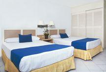 Habitaciones / Las habitaciones del Hotel Calinda Beach son amplias y confortables, todas con terraza y vista al mar o al centro de la ciudad.  / by Calinda Beach Acapulco