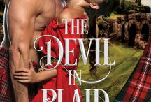 The Devil in Plaid / A passion too intense to deny...  Lady Fiona MacDonnell is certain Laird Jamie MacLeod is the devil himself. Their clans are sworn enemies, each steeped in hatred born from a long-standing feud. But when threatened by a powerful neighboring clan, they must unite to survive.  The Devil has never been hotter, his angel never so fine, but will their forced marriage be hell on Earth or together will they find heaven?