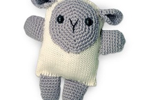 crochet and knitted animals