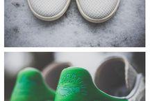 Sapatos da adidas e Nike
