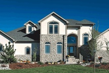 Buckland Showcase Home Plan / This two story, French country plan features 1,984 square foot, 3 bedrooms, and a main level master suite.  Web Link: http://bit.ly/1O8RlXE #9170