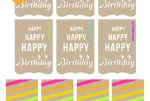 Birthday cards&tags