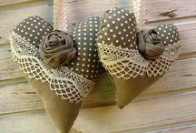shabby chic padded hearts