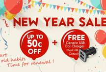 2015 New Year Sale / Welcome to 2015! May this New Year brings you Immense Happiness in all you do. May the fireworks brings you the Sound of Victory in your ear. Wishing you HAPPY NEW YEAR!  To celebrate New Year, we have selected the HOTTEST Items with Crazy PRICE CUT up to 50€! What's More? You can even get a FREE USB Charger for Any Purchase of the Selected Items! Double Bonus, Double Happiness! It is Time for RENEWAL! SAVE NOW!
