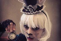 Withe rabbit / Halloween