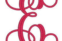 Embroidery Fonts I have / by Amanda Dowland Strathmann
