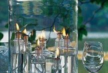szkło i świecznik