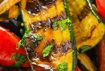 Légumes grillés au vinaigre basalmique.
