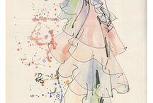 fashion illustration - Kenneth Paul Block