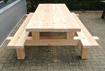 table exterieure avec bancs