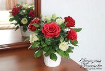 Цветы из полимерной глины / Цветы из полимерной глины будут прекрасным украшением вашего интерьера или могут стать превосходным подарком! Они никогда не завянут и будут радовать вас вечно! Моя группа вконтакте http://vk.com/ustyugovak