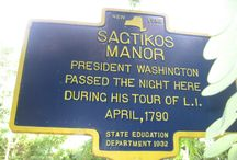Sagtikos Manor / George Washington slept here -- for real. But only after he was president. The house was owned by loyalists. The Sagtikos Manor was built in 1697, and expanded in 1772 and 1902. The estate served as headquarters for the British Army on Long Island for a brief time during the Revolutionary War.