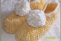 PANTOUFLES / pantoufles, Tricot, crochet)