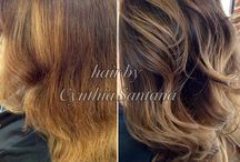 Balayage / French hair coloring technique. It's a freehand technique where the hair color is applied by hand sweeping for a more natural effect.