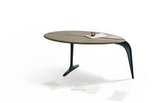 """News 2015 - BIRD, design Tapio Wirkkala / The """"Bird"""" side table is a project that symbolises Wirkkala's natural and organic poetry. A sinuous shape, at the same time simple yet abstract, the piece is inspired by the silhouette of a bird, a recurring theme in Wirkkala's work as a sculptor and designer, along with shells, ice and leaves."""