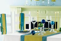 Color Combo:  Bright Blue And Lime Green
