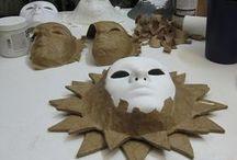 maschere in cartapesta