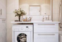 mosógép,fürdőszobában