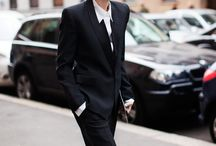 androgynious suit