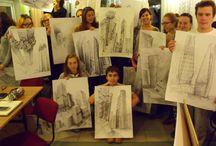 Soczewka / Tutaj kilka fotek z Soczewki - miejsca gdzie już kilka razy zbieraliśmy się na wspólnym rysowaniu.