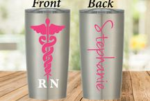 Proud Nurse Personal Stainless Steel Tumblers / Look At Who Is Using These Amazing Personalize Stainless Steel Tumblers. Keeps Your Hot Drinks Hot Or Cold Drinks Cold Just Like The Big Brands!