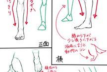 tutorial leg & foot