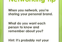 Networking Tips / Networking tips for professionals to maximize their time spent communicating with new people! Go beyond a simple business card exchange and make lasting connections.