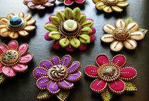 Bijoux textiles avec zipper