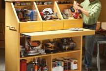 Tool Storage / Storage and organization hacks abound when it comes to handymen and their tools! Check out these genius ways to store and organize your power tools, hand tools, nails, screws, and other DIY materials in your workshop or garage.