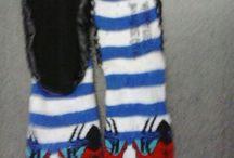Slipper Socks (Hausschuhe) von mir fotografiert / Hier findet ihr Stopper mit gummisohle oder mit Leder.