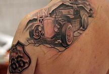Tattoo vintage car