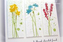 """Stamp:Long Stem Silhouettes / Handmade cards featuring the stamp set """"Long Stem Silhouettes"""" by Sweet n' Sassy Stamps."""