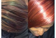 Huetiful Color / Huetiful only uses professional color by Wella and Pravana with services provided by color certified licensed stylists. Our level of training, expertise and consultation ensures both healthy and accurate color care services. This board features color done at a Huetiful Salon.