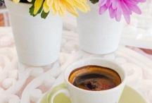 cafea si flori