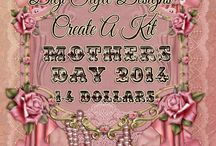 DSD  Create A Kit Mother's Day 2014 / small digital kits 1-4.00, pu, cu, for you to mix and match.