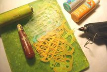 Hot glue gun stencils / Making stencils to use with geli plates