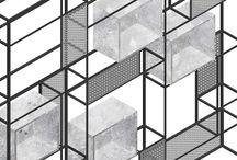 J_MIB modular bookshelf / interior design project