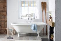 Laura Ashley / The Laura Ashley bathroom collection includes design-led bathroom furniture, sanitaryware, mirrors and cabinets, and showers as well as statement baths. From classic styling to sleek modern lines, the furniture ranges are finished in subtle hues of soft greys and whites, with worktop options including honed marble and granite.