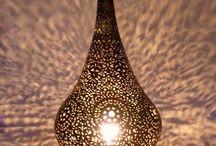 lampes ajourées et photophores