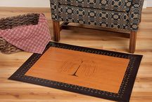 Stenciled Floor Cloths / Floor Cloths are an American tradition dating back to the time of George Washington.  These Stenciled Floor Cloths are handmade in the USA!