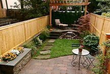 Small backyard and landscape
