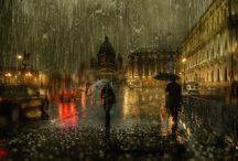 Diaporama villes et pluie