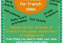 French class - printables