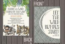 Wild Things Baby Shower Invites