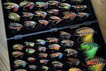 Display boards with Classic Flies & Art Flies  -  Plancher med Klassiske Fluer & Kunst Fluer / Classic & Art Flies - Klassiske & Kunst fluer