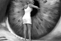Eye Art // Kunstwerke / Das ist wahre Kunst rund ums Auge! #wunderschön #Inspiration