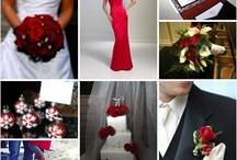 Black white and red wedding