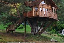 Tree houses and holliday hideways / I love to own a tree house as a holiday home. Or even stay in one for fun.