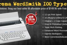 Typewriter / We have stocked wide range of #Typewriter and #accessories for your writing need. Shop for brand new and refurbished piece #typewriter at slashed price. We have discounted price for every product we sell.
