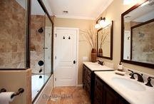 Bathroom Design 5 / Our elegant traditional bathroom with oil-rubbed bronze fixtures.
